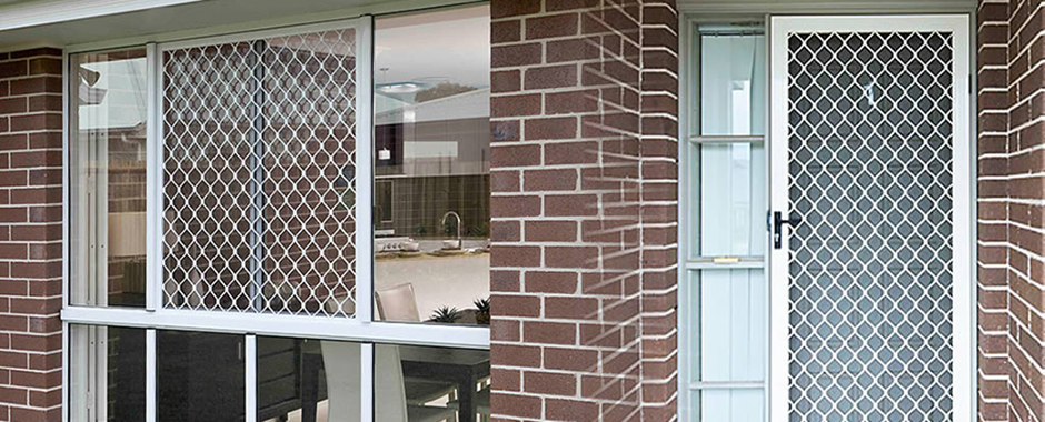diamond grille security screens by Unique Windows & Doors