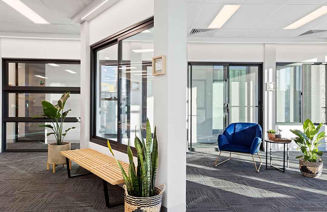 Window examples in Unique Windows & Doors showroom